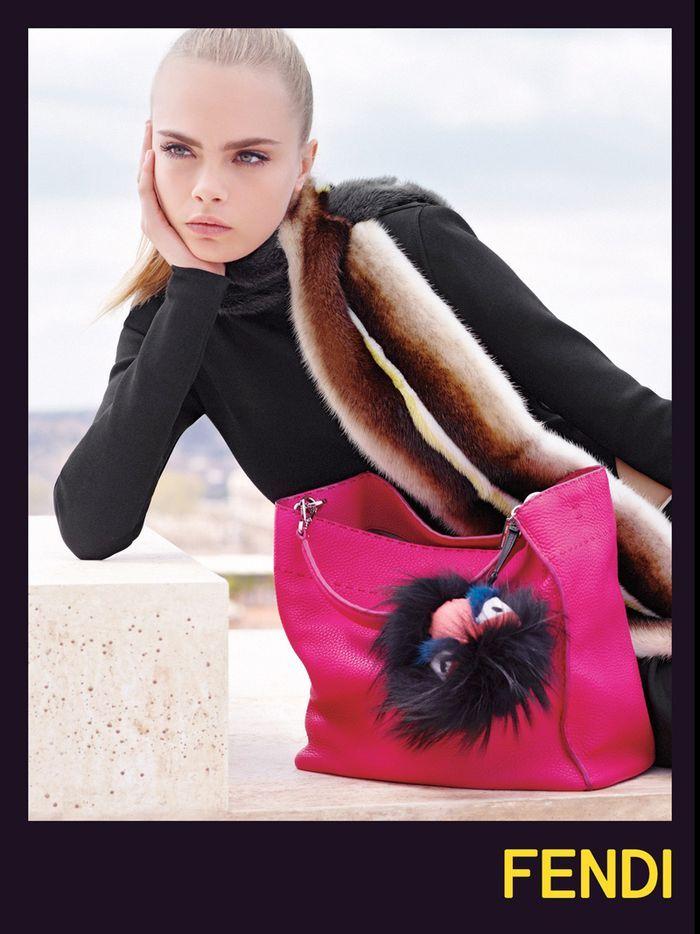 Cara Delevingne   Saskia De Brauw for Fendi FW 13.14 Campaign by Karl  Lagerfeld 7c7082658c88f