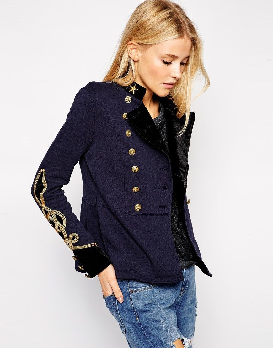 Denim Supply By Ralph Lauren Veste D Officier Mode Veste