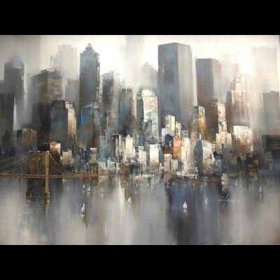 tableau de new york autour d 39 un cadre encadrement peinture restauration cuadros de. Black Bedroom Furniture Sets. Home Design Ideas