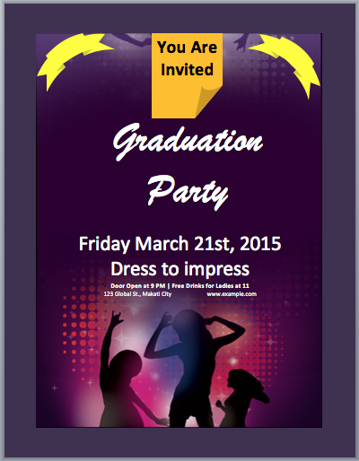Graduation Party Invitation Flyer Flyers And Brochures Flyer