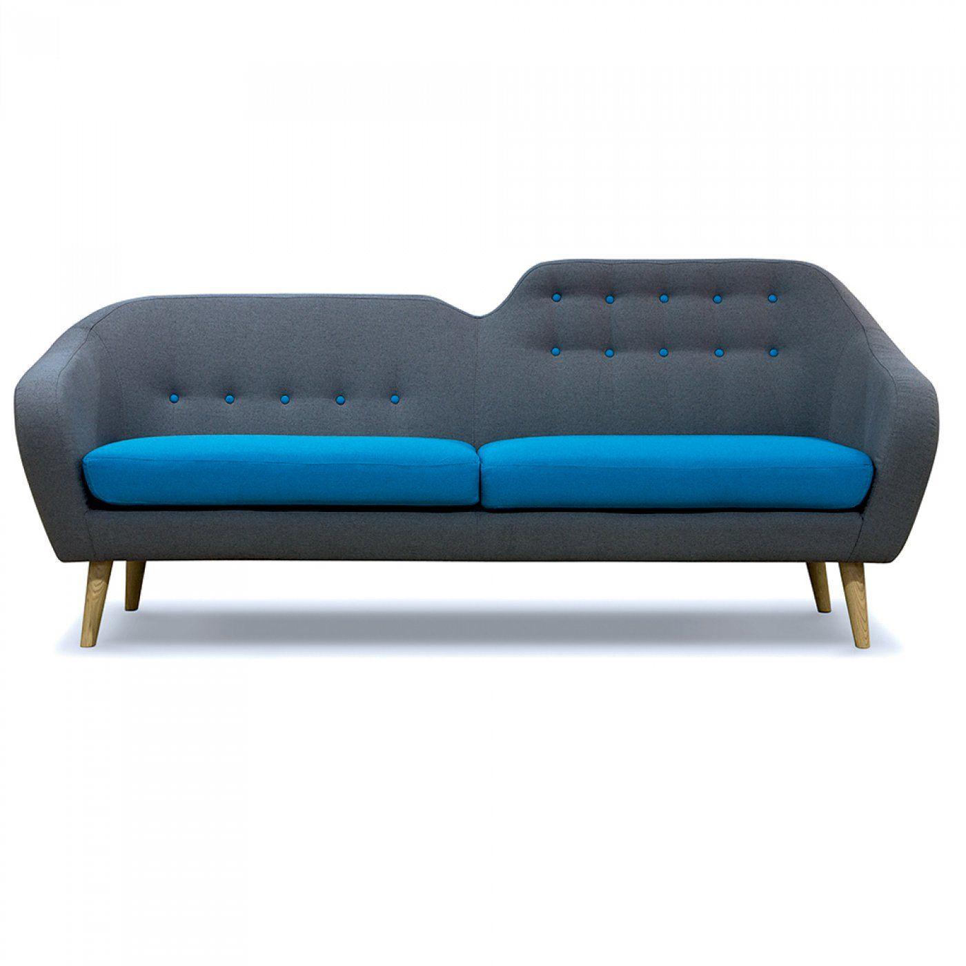 canap retro sofa siva grau massivum - Canape Retro