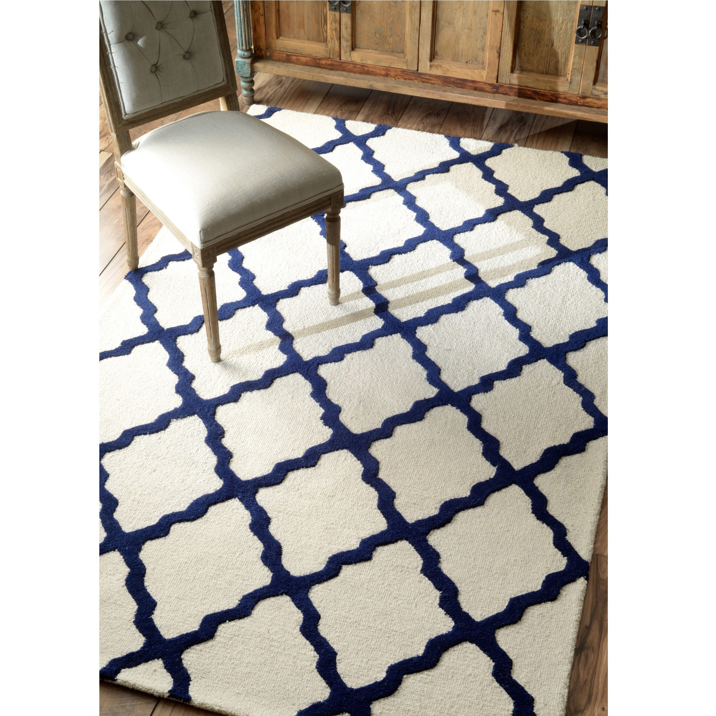 Nuloom Handmade Moroccan Trellis Wool Area Rug 5 X 8
