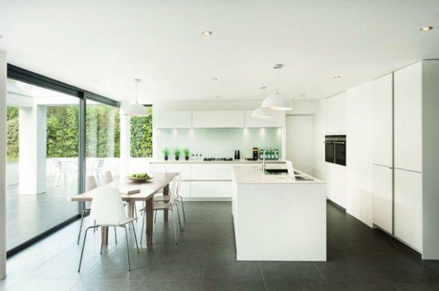 Idées de décoration cuisine monochrome