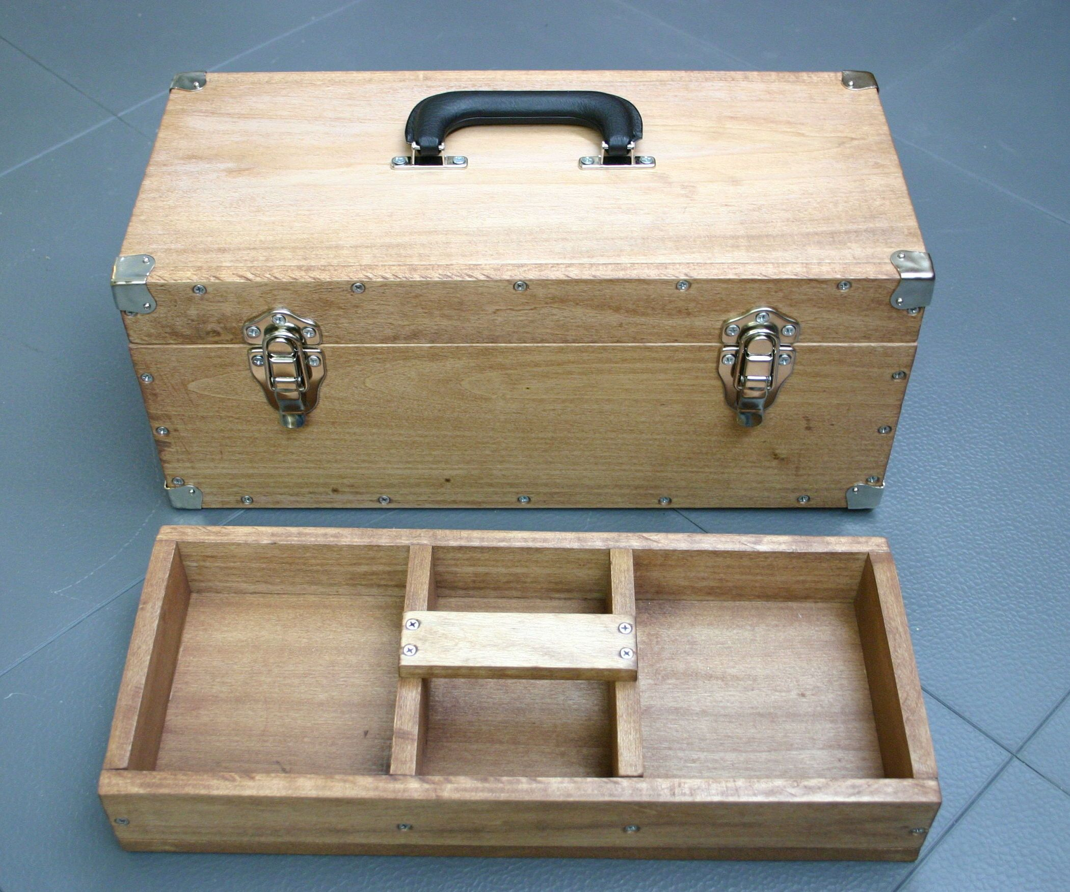 Functional and Sturdy Wooden Toolbox Tool box, Wooden