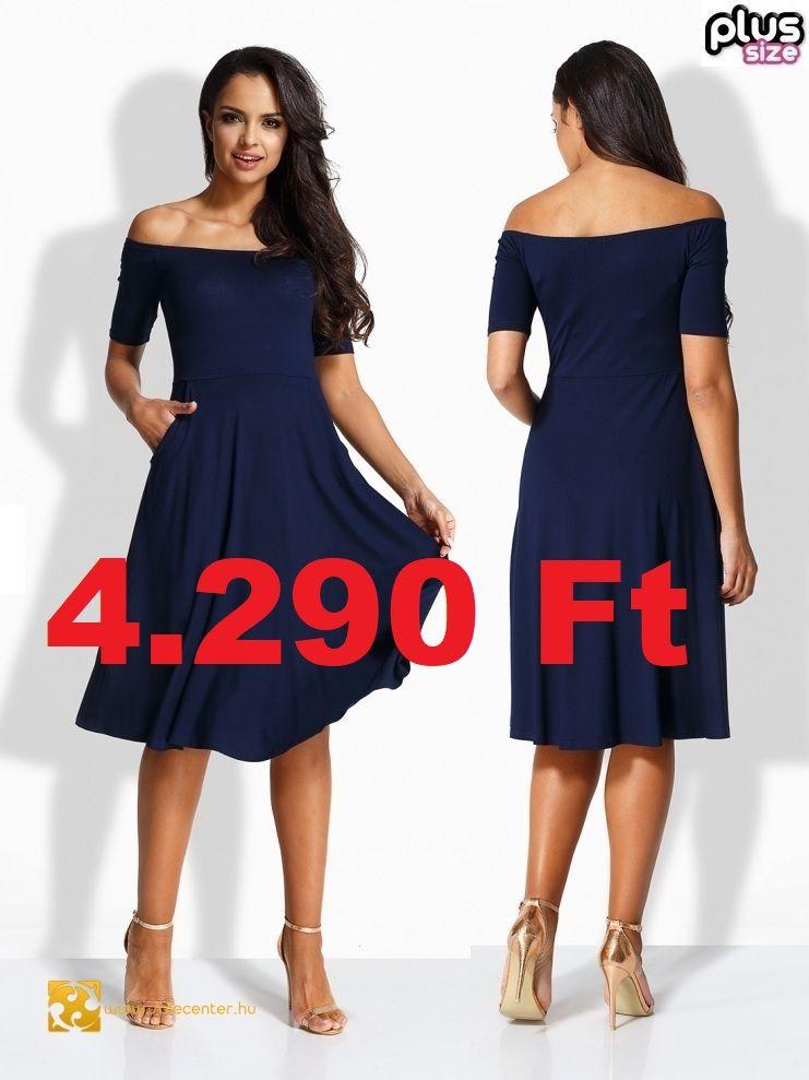 7bd830ed2c Ejtett vállú zsebes ruha 4 színben (S-M,L-XL,2XL-3XL) ekkor: 2019 ...