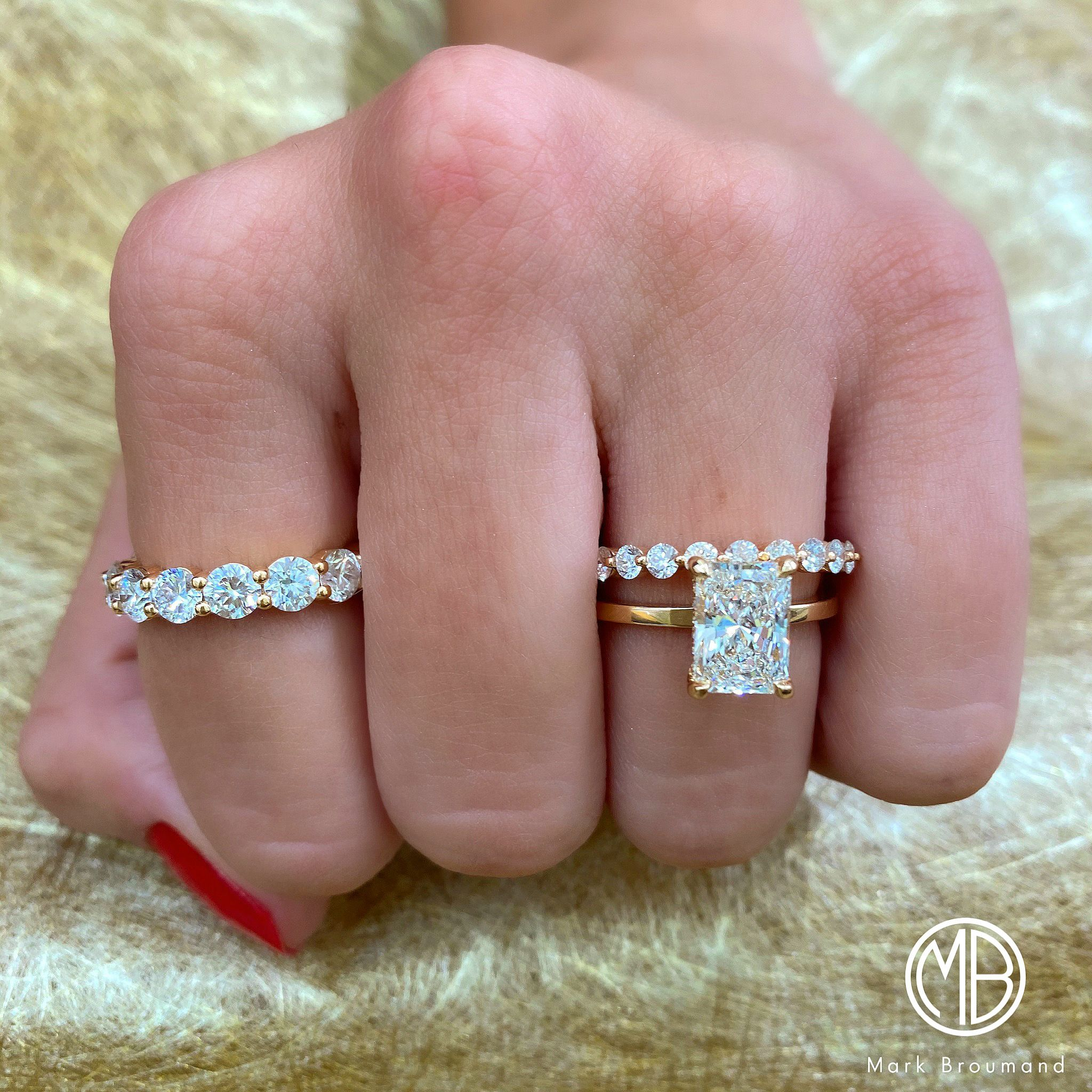 1.75ct Emerald Cut Halo Statement Engagement Bridal Ring Solid 14k Rose Gold