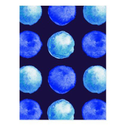 Winter blue watercolor large dots pattern postcard trendy gifts winter blue watercolor large dots pattern postcard trendy gifts cool gift ideas customize negle Images