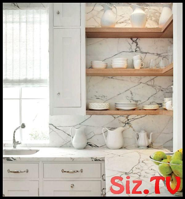 White Marble Kitchen Crushes White Marble Kitchen Crushes A Blog About Decoratin...-#Blog #Crushes #Decoratin #kitchen #marble #White #kitchencrushes