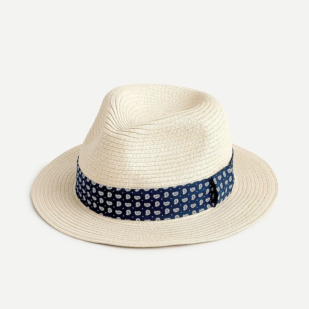 Packable Panama Hat With Bandana Band In 2021 Panama Hat Hats For Men Panama Hat Men