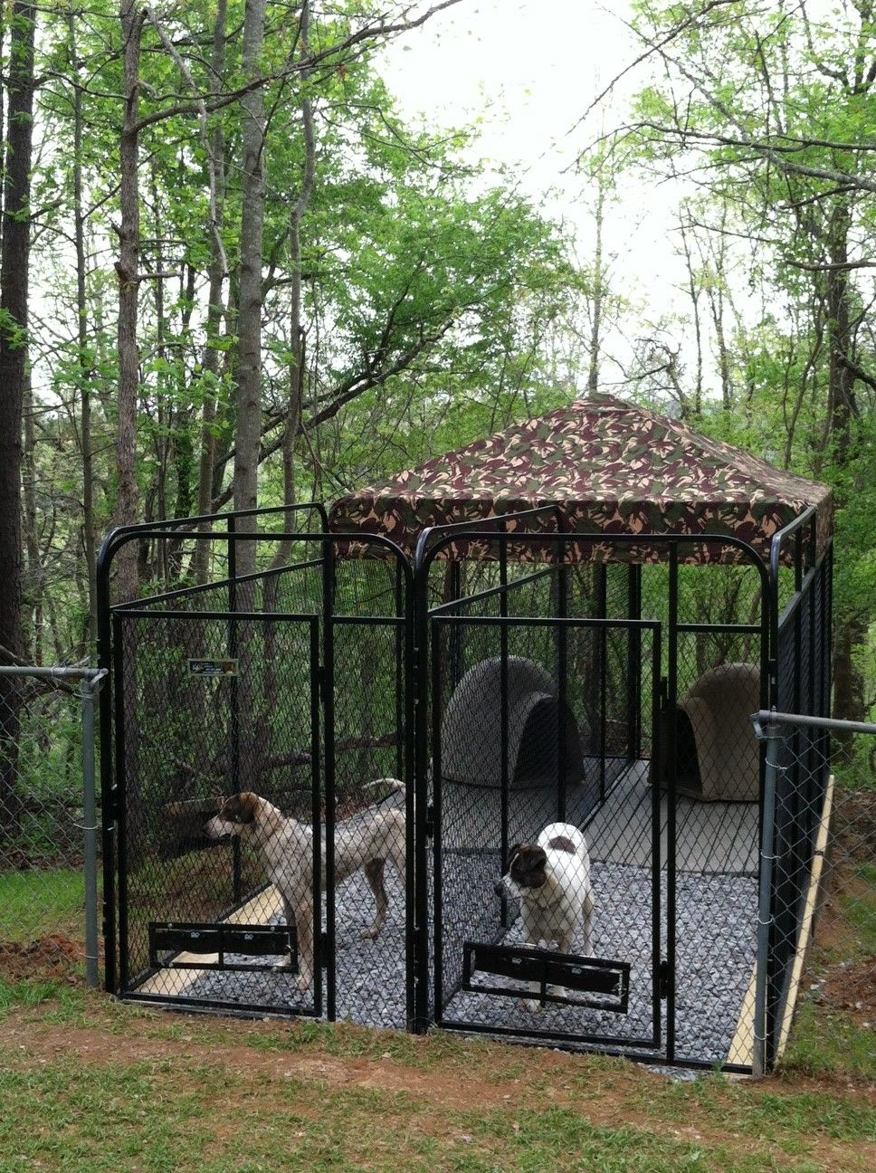 K9 Kennel Multiple System For 2 Dogs Metal Dog Kennel Building