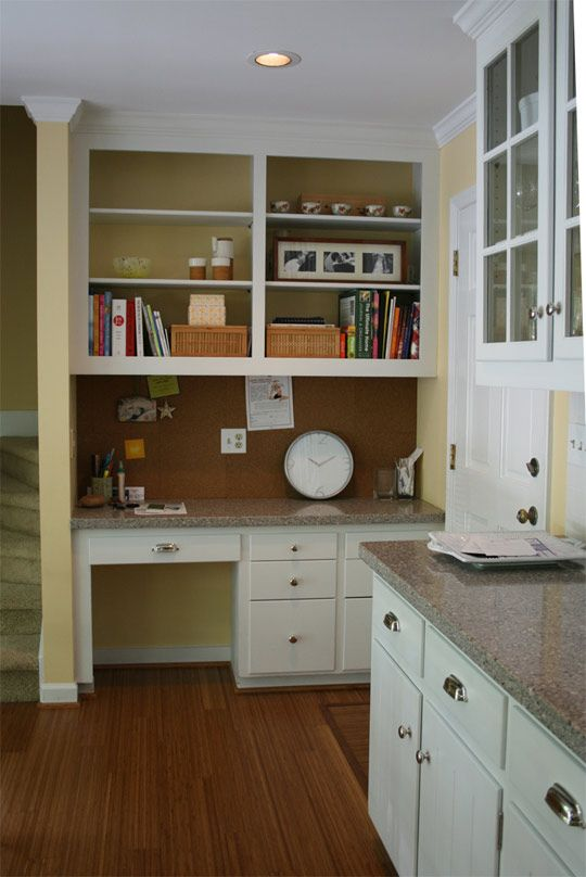 built in deskhutch for jadas - Kitchen Desk Ideas