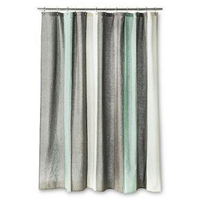 Threshold Blanket Stripe Shower Curtain Gray White Striped