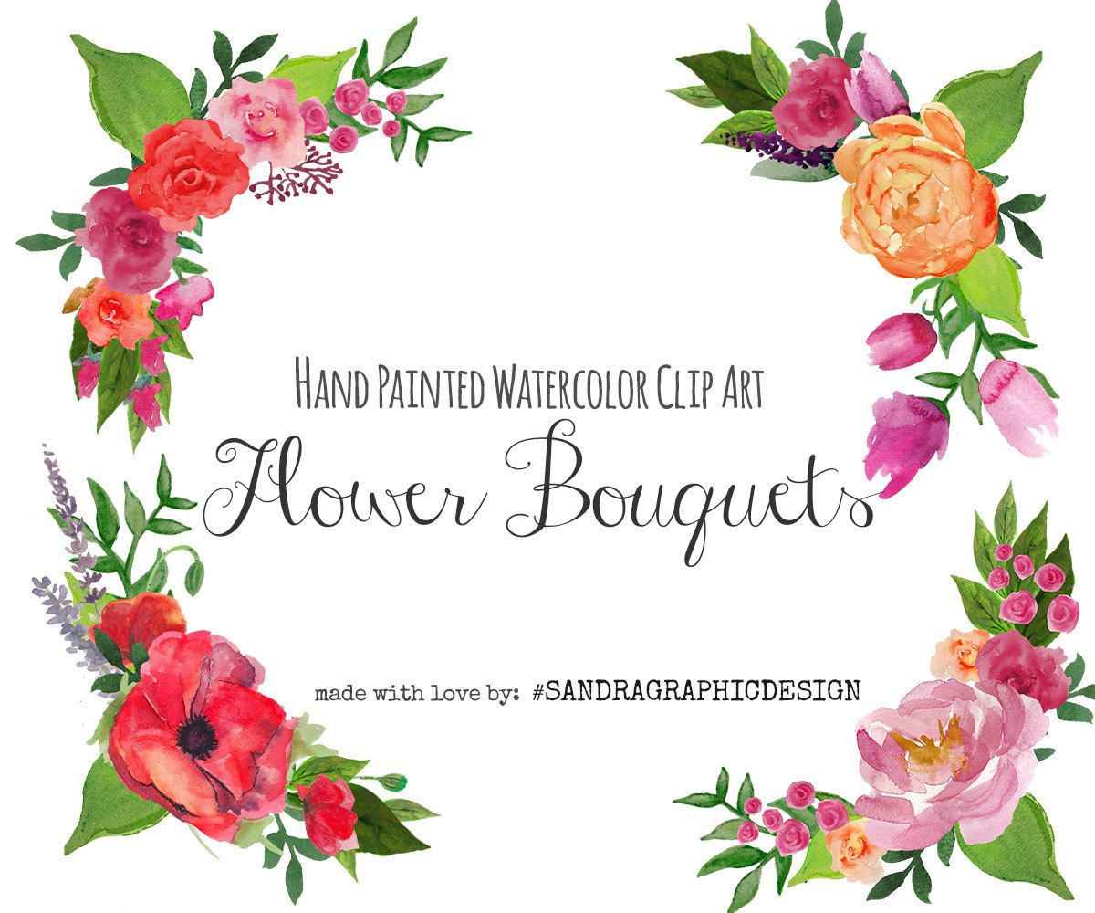 New to sandragraphicdesign on etsy floral clip art floral bouquet new to sandragraphicdesign on etsy floral clip art floral bouquet floral frame clipart wedding flowers clip art watercolor hand painted clip art 5201 izmirmasajfo
