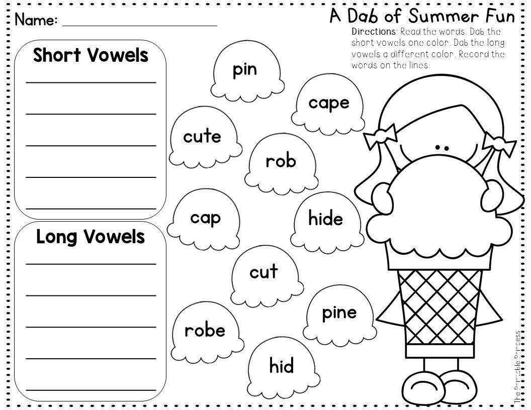 Summer Activities No Prep Pages Literacy And Math Activities For Kindergarten