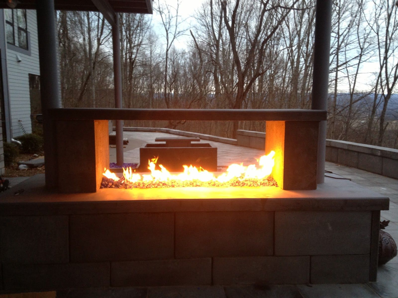 Outdoor See Through Fireplace Interior House Paint Ideas Check