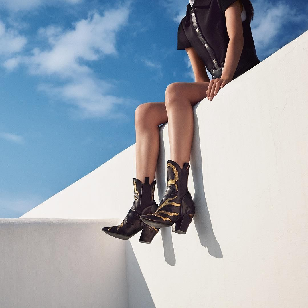 The #LouisVuitton Fireball ankle boots