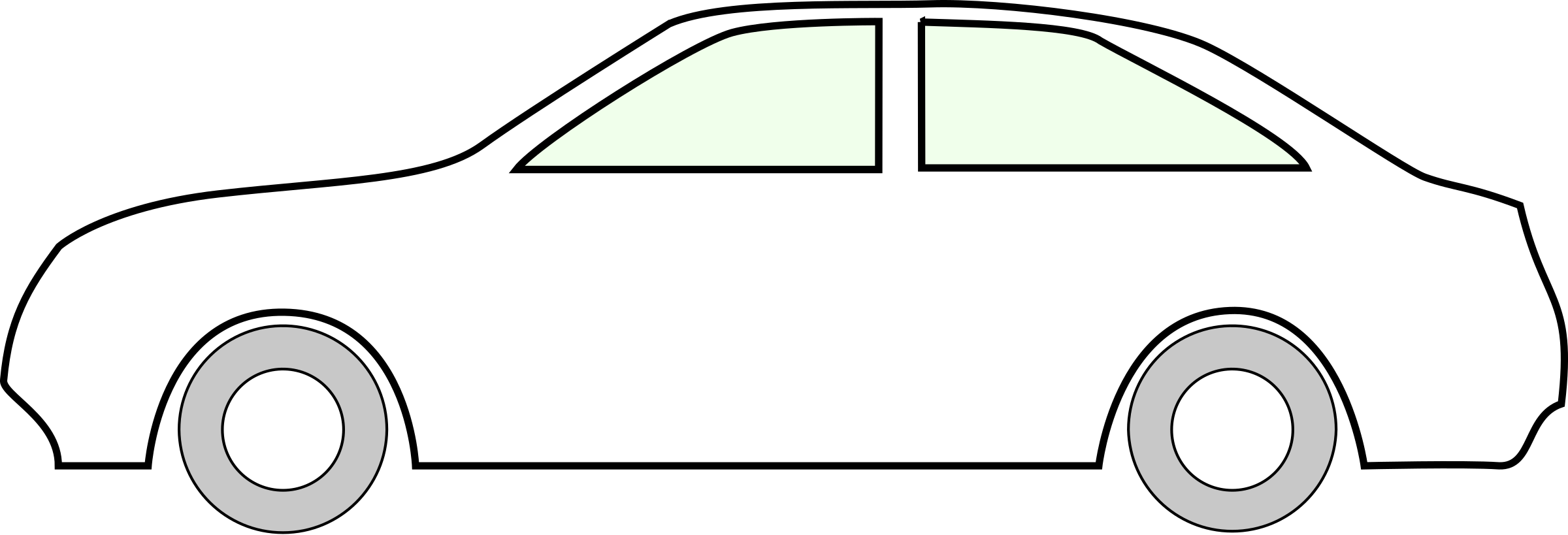 Simple Side Of Car By Z Car Outline White On Openclipart Simple Car Drawing Car Drawing Kids Car Drawing Easy
