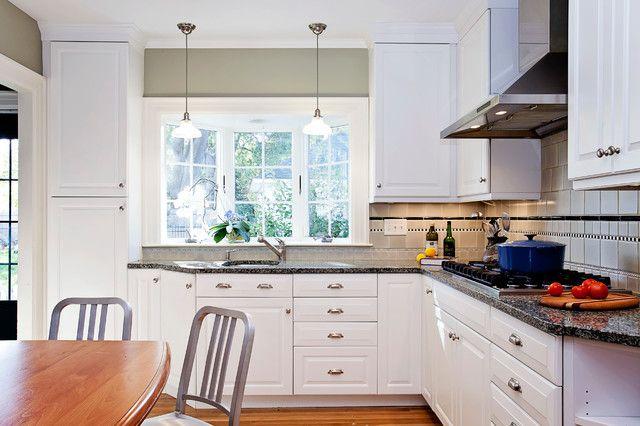 Bay Window Over Kitchen Sink Traditional Kitchen Kitchen Bay