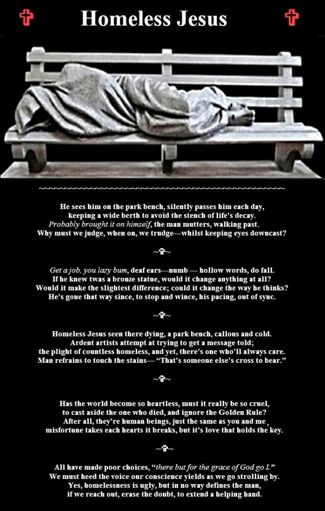 homeless Jesus | Inspire me | Bench, Prayers
