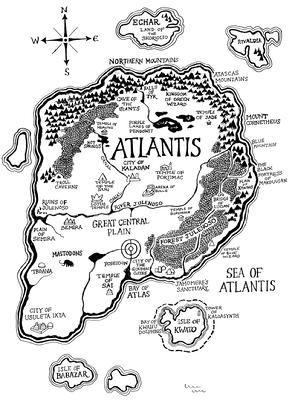 Atlantis Map More Fantasie Karte Atlantis Mythologie