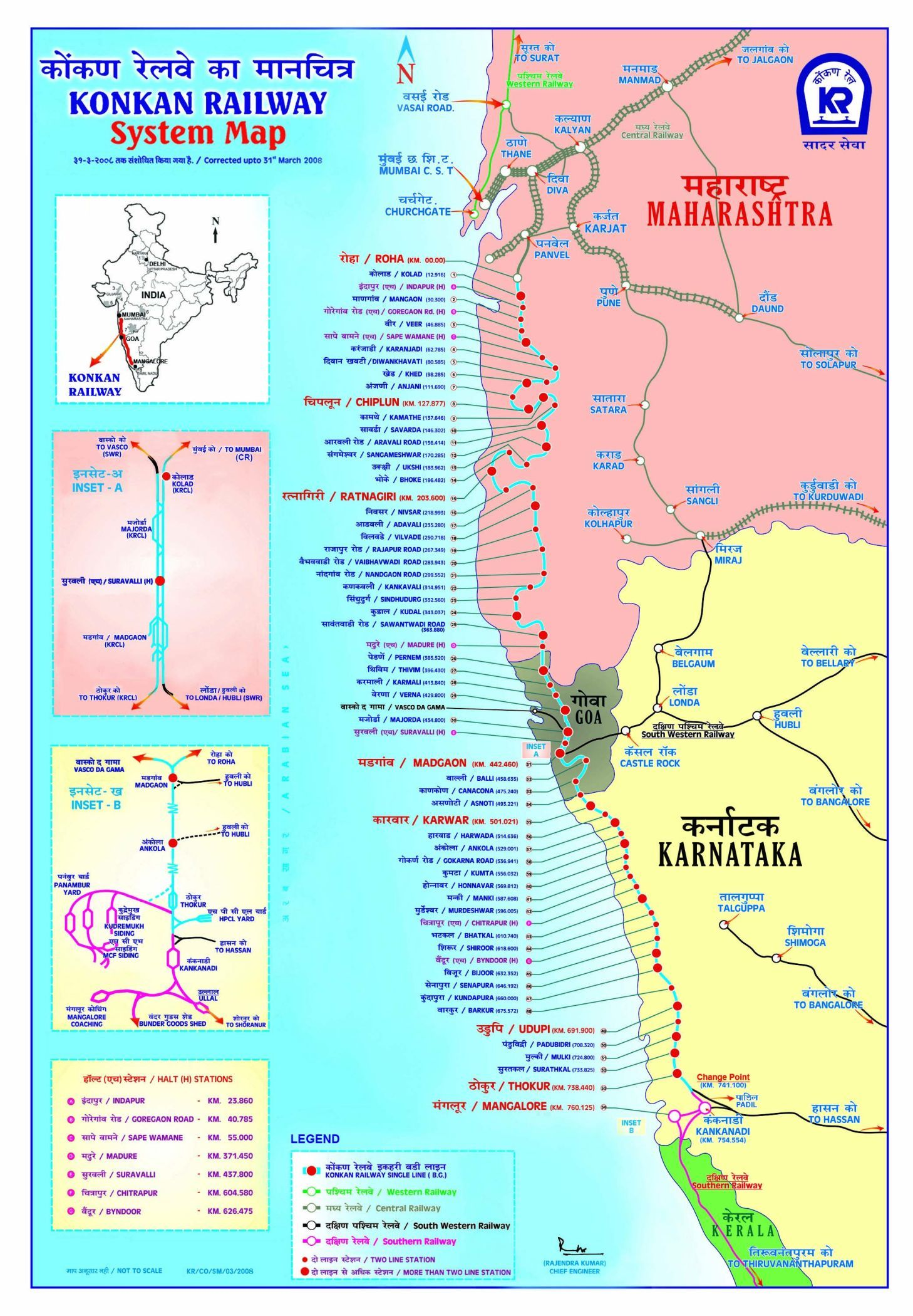 Konkan Railway Map And Its Station Details