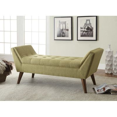 Langley Street Serena Upholstered Bedroom Bench Color Gre