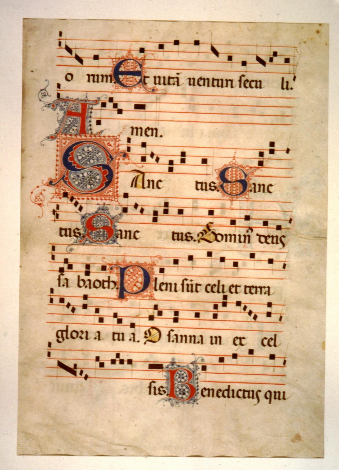 Illuminated Plainchant Page | Gregorian Chant in 2019