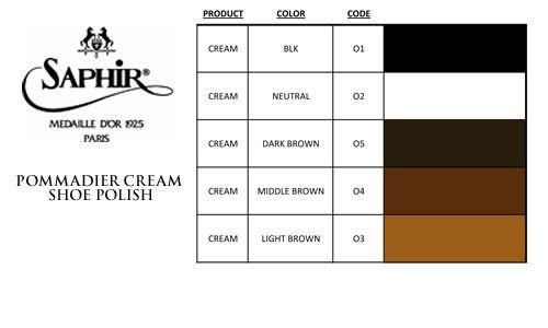 Saphir Polish Cream Color Chart 1