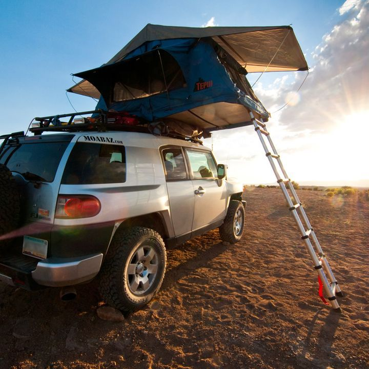 Nice ex&le of a FJ Cruiser Tent Topped with an Ayer model roof top tent. & Tepui Ayer Rooftop Tent | Outdoors | Pinterest | Tents Trailer ...