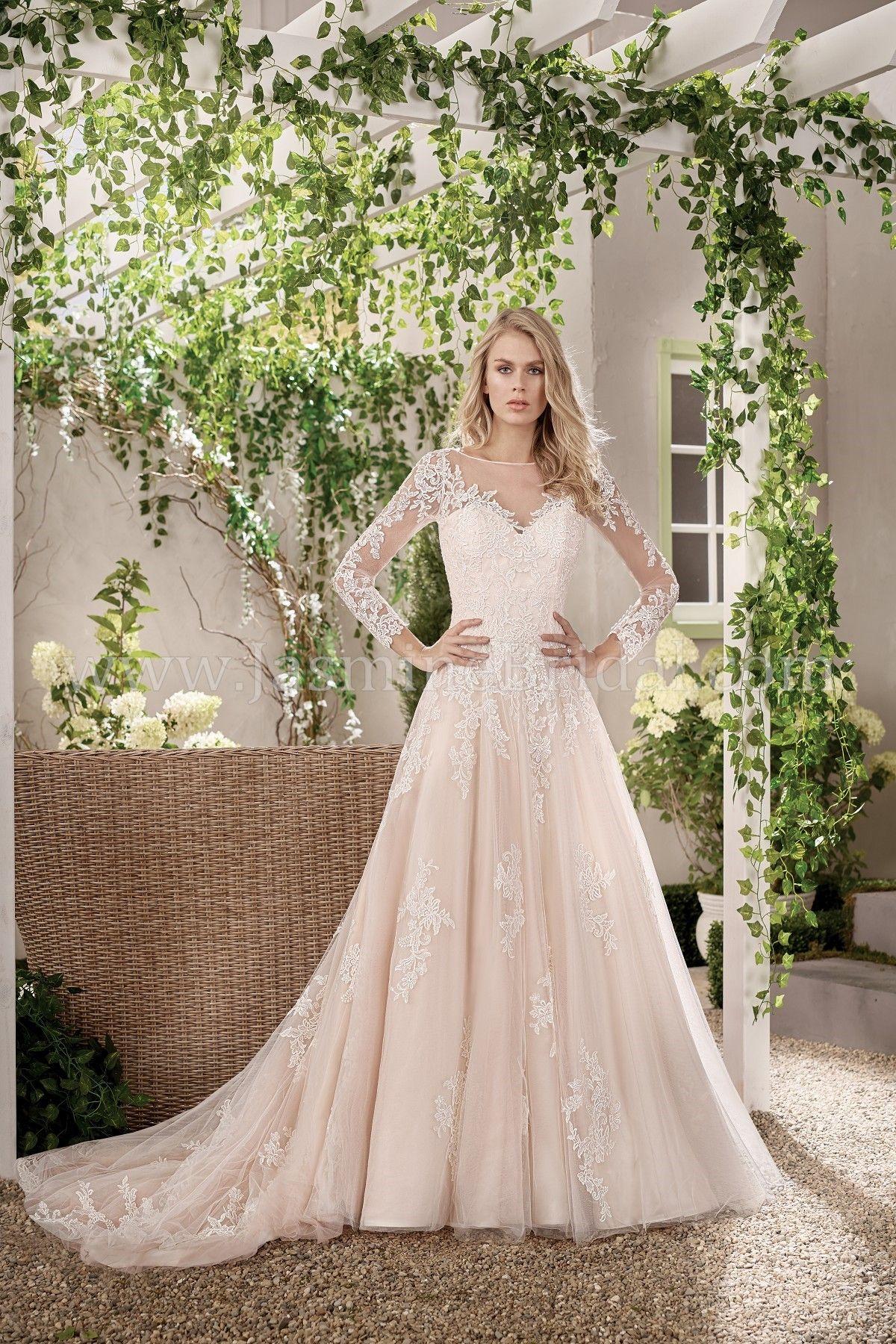 Jasmine wedding dresses  Jasmine Bridal  Collection Style F in Alençon Lace Tulle