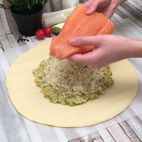 Tarte poireaux saumon #chefclubrecettevideos