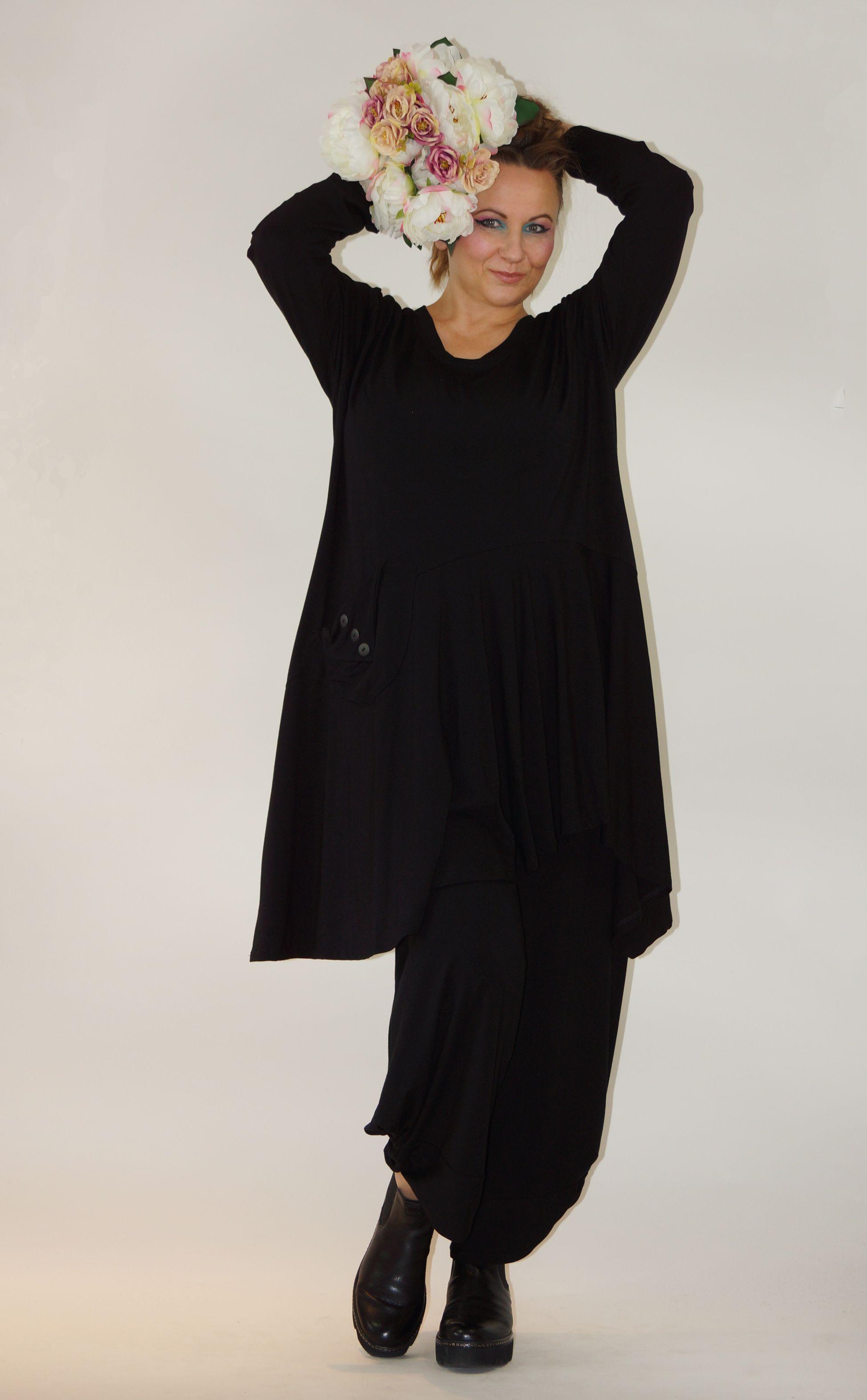 Tunika 3 Knopfe Hose Seiten Verdreht Von Kischella Design In 2020 Damenmode Grosse Grossen Modestil Mode
