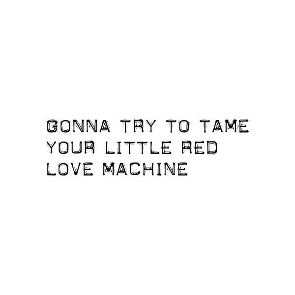 words to little red corvette