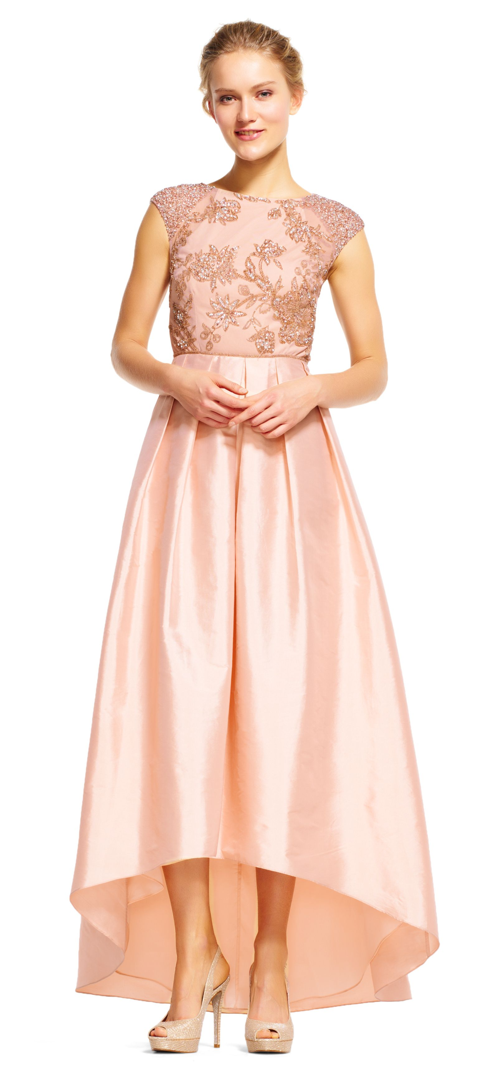 Dainty Details Draw The Eye To This Feminine Ball Gown This Formal
