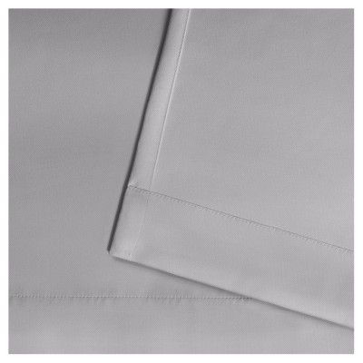 """Indoor/Outdoor Solid Cabana Grommet Top Window Curtain Panel Pair Cloud Gray (54""""x108"""") - Exclusive Home"""