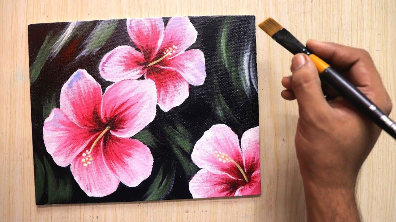 Easy Acrylic Painting For Beginners Of Beautiful And Simple