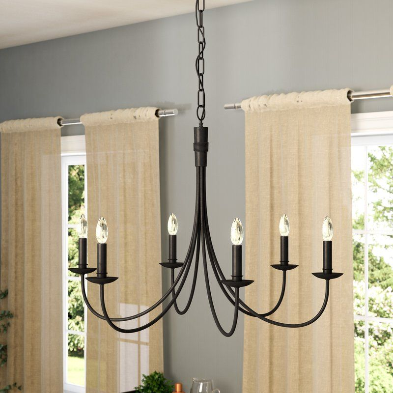 Souders 6 Light Candle Style Classic Traditional Chandelier