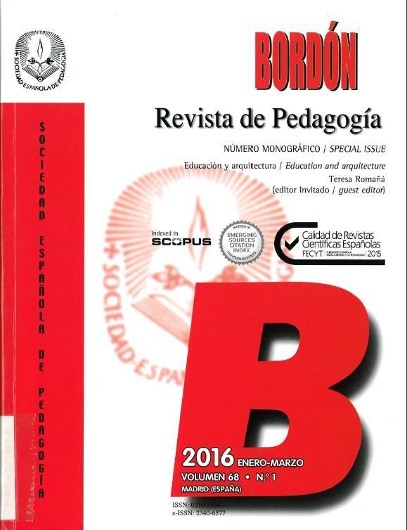 Bordón Bordón : revista de Misiones Pedagógicas y de la Sociedad Española de Pedagogía