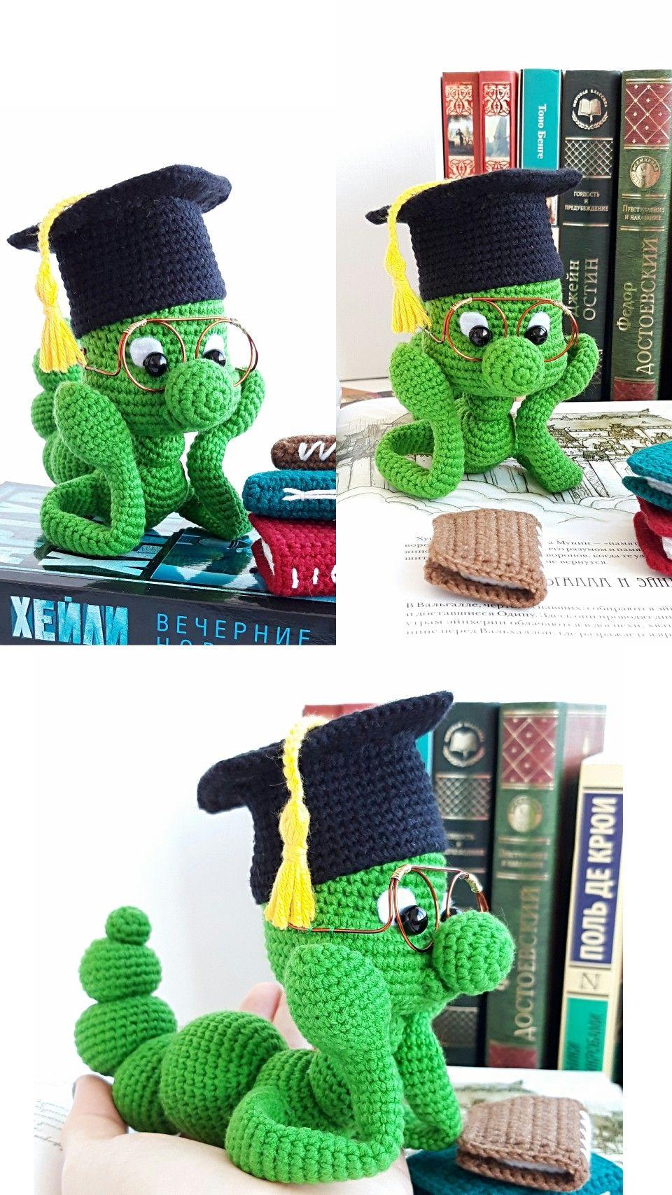 Bookworm,Handmade plushie, book lover gift,Stuffed Animals
