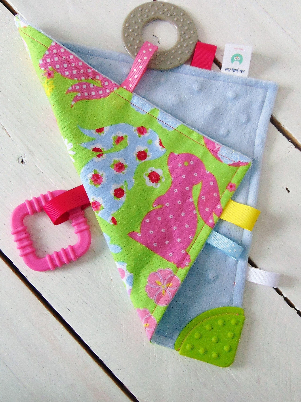 Easter Teething Blanket/Quiet Teething Blanket/Busy ...