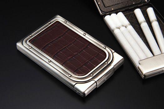 シガレットケース/SAROME EXCC1 コードバン ダイヤモンドパイソン cigarette case
