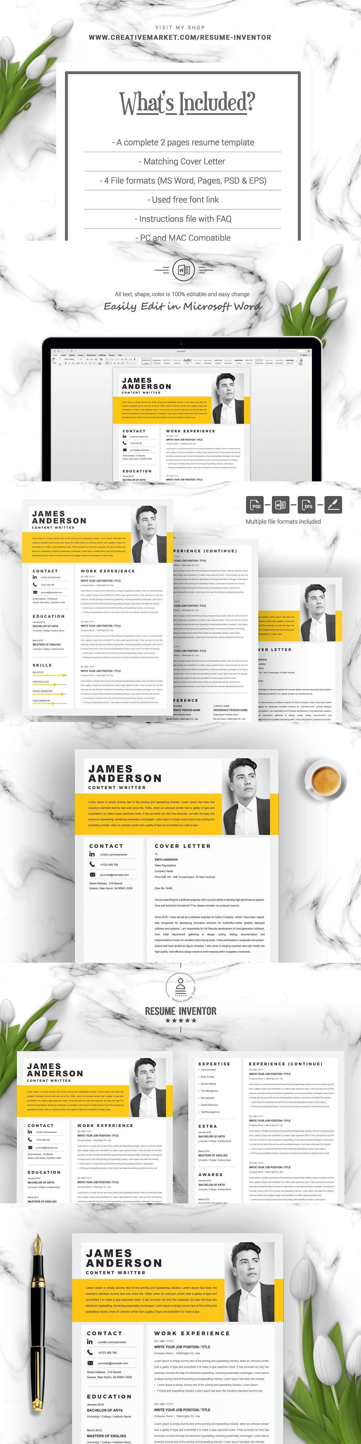 Creative modern resume template in 2020 modern resume