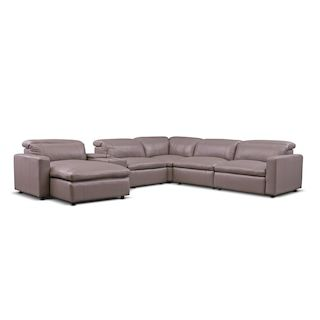 Happy 6 Piece Dual Power Reclining Sectional American