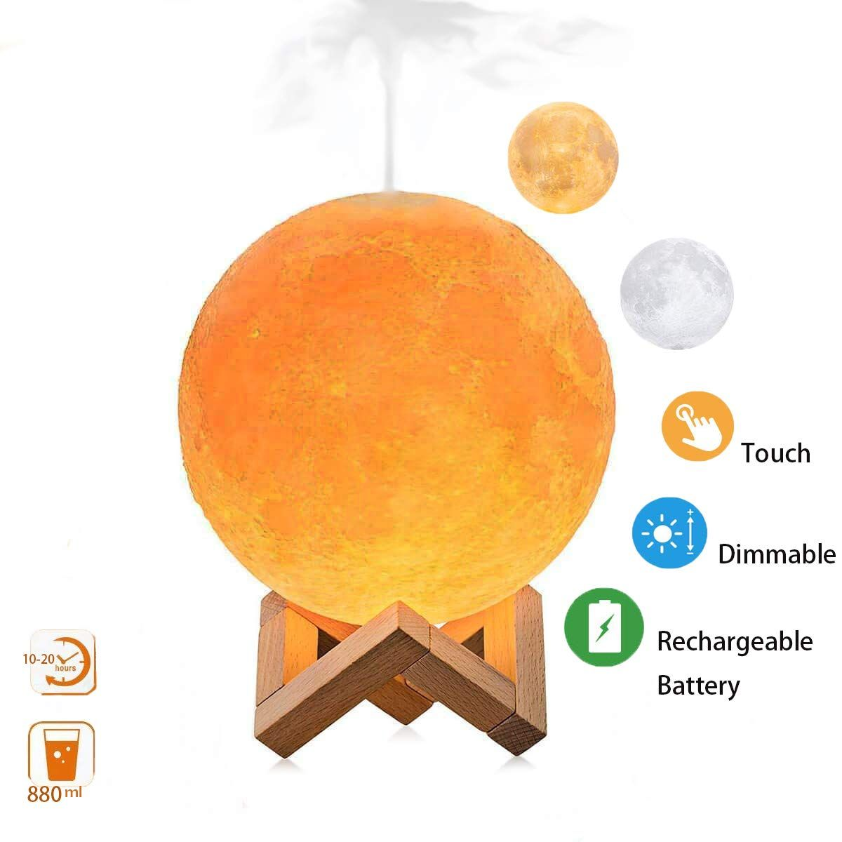50 Off Upgraded Version Moon Lamp Humidifier With 3 Colors Budget Nerds Deals Onlineshopping Amazondeals Diffuser Humidifier Air Humidifier