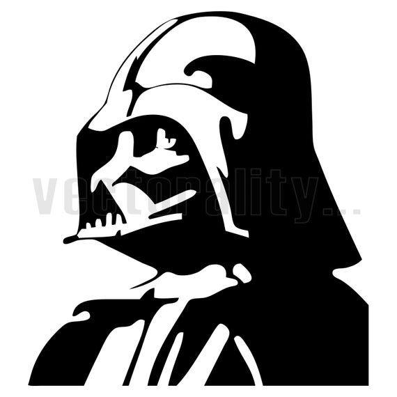 Darth Vader Starwars Vector Art File Instant Download Ai Eps Etsy Darth Vader Decals Star Wars Stencil Darth Vader Silhouette