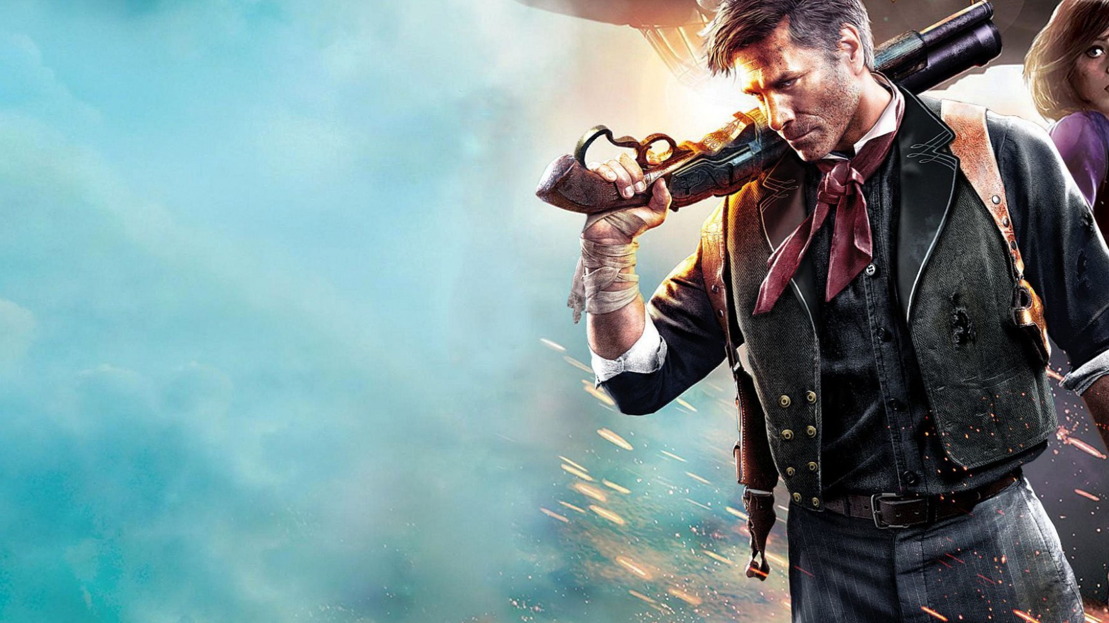 Download Wallpaper 3840x2160 Bioshock infinite, Elizabeth, Booker