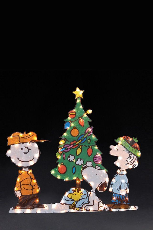 light up peanuts christmas decorations - Peanuts Christmas Decorations