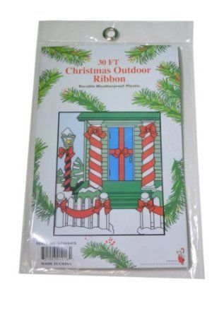30ft Red Plastic Outdoor Christmas Ribbon The seven levels of the