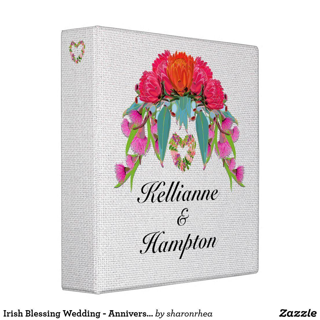 Irish Blessing Wedding - Anniversary 3 Ring Binder