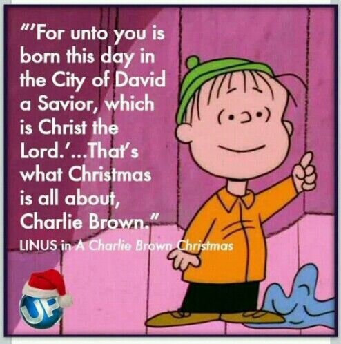 peanuts linus meaning of christmas - Google Search | Christmas ...